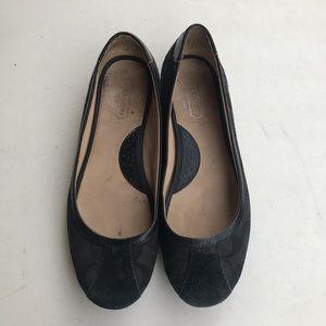 COACH | Black Signature Tillie Flat Shoes 8M